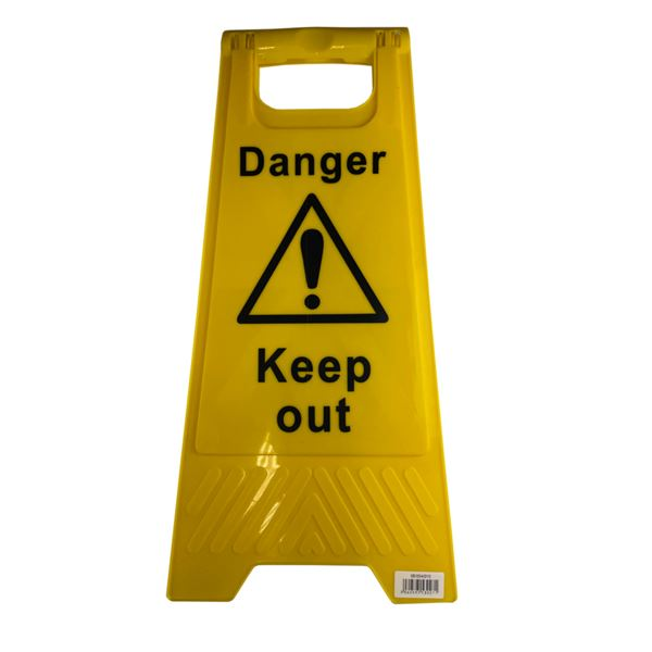 Floor Stand Danger Keep Out