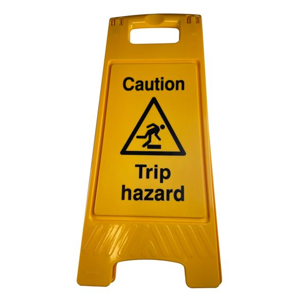 Floor Stand Caution Trip Hazard