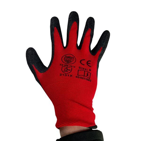 Red Cut Level 1- Latex Grip Glove-Size 9