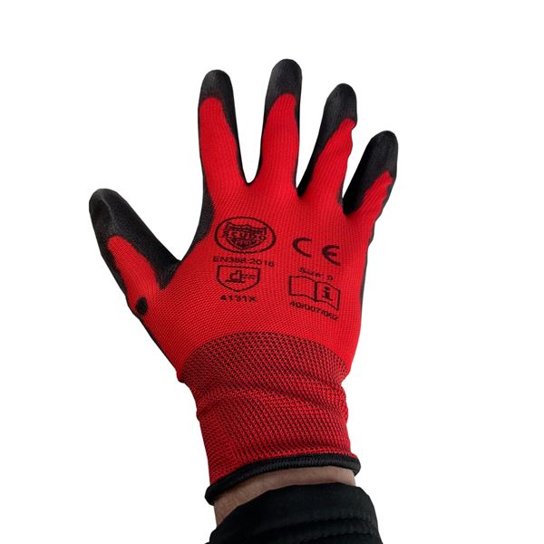 Red Cut Level 1 - PU Glove - Size 9
