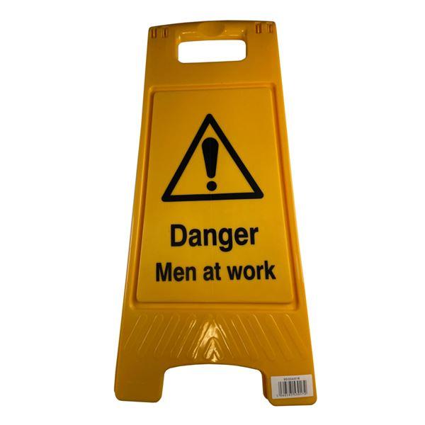 Floor Stand Danger Men at Work