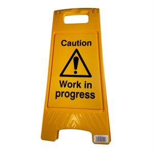 Floor Stand Caution Work In Progress