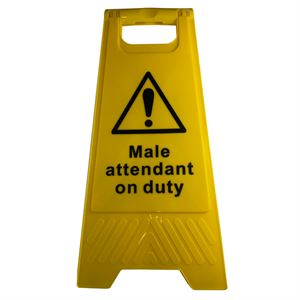 Floor Stand Male Attendant on Duty