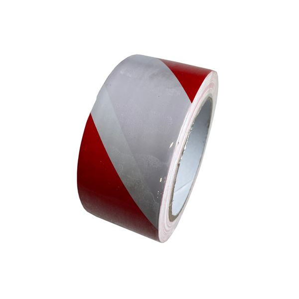 50mm X 33M Red / Wht Warning Tape